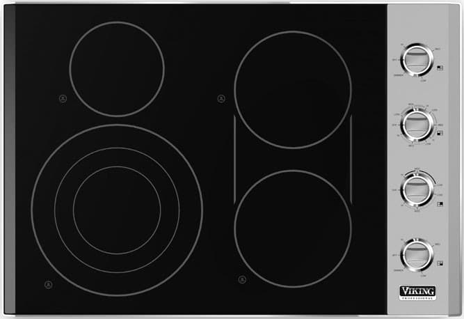 Viking Electric Cooktop ~ Viking vec bsb inch smoothtop electric cooktop with
