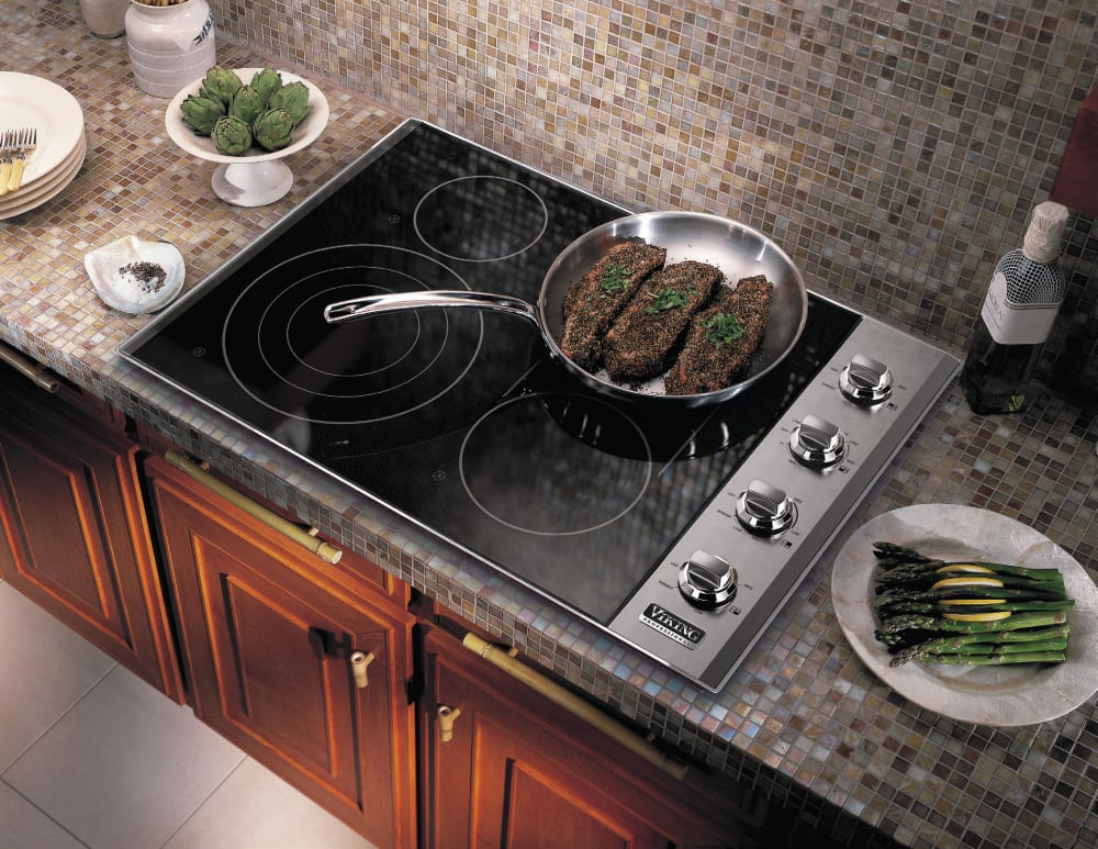 Top Ranked Electric Cooktops ~ Viking vec bsb inch smoothtop electric cooktop with