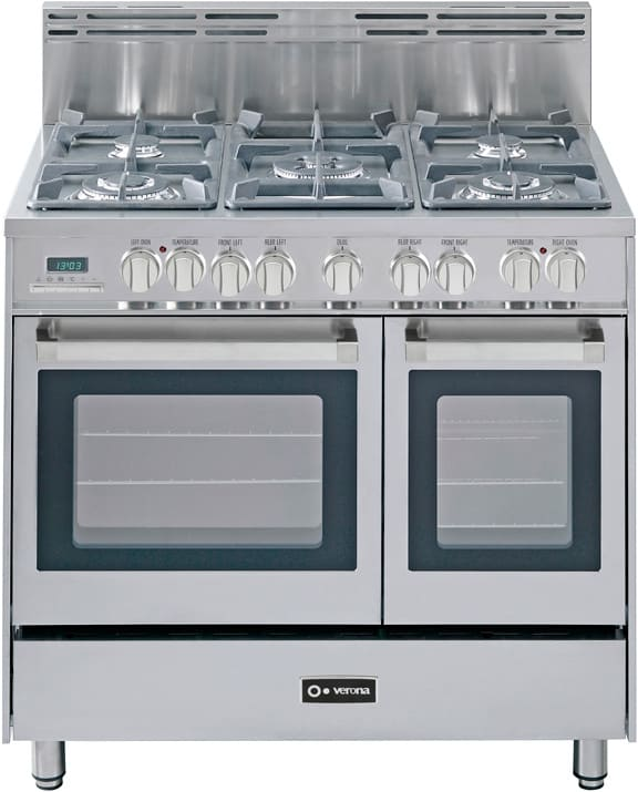 502730e5a Verona. VEFSGE365DSS. 36 Inch Pro-Style Dual-Fuel Range with 5 Sealed  Burners ...
