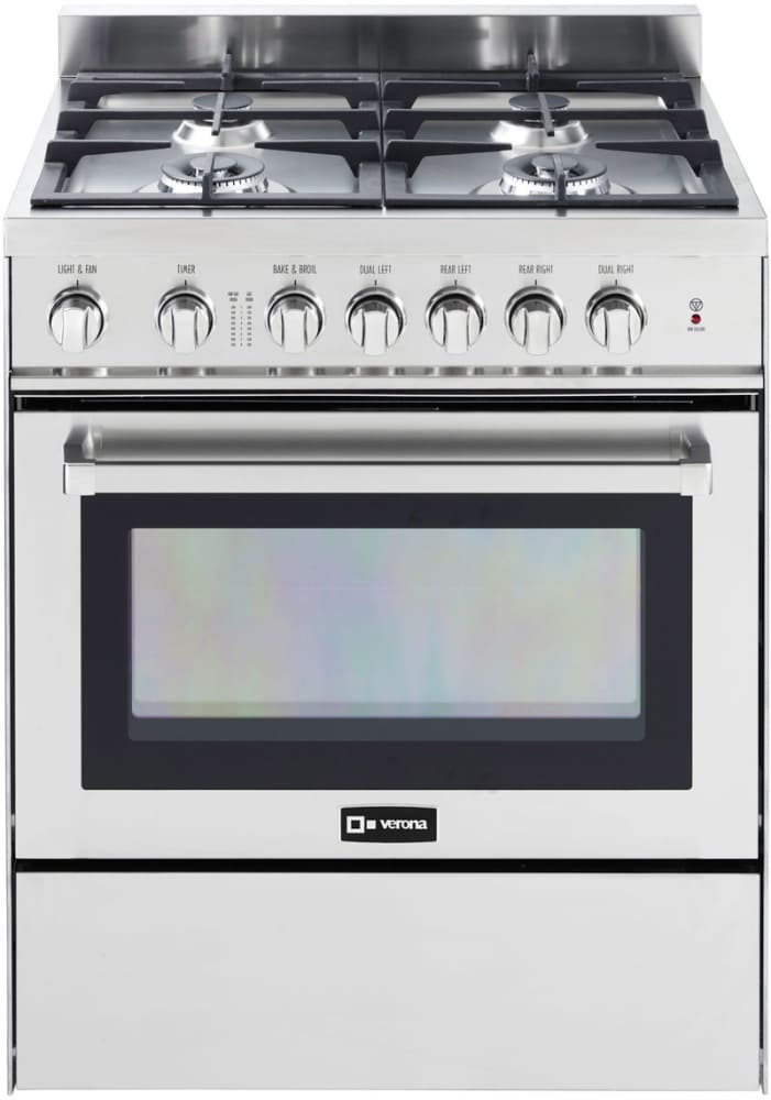 Verona Vefsgg304nss 30 Inch Freestanding Gas Range With 3 0 Cu Ft