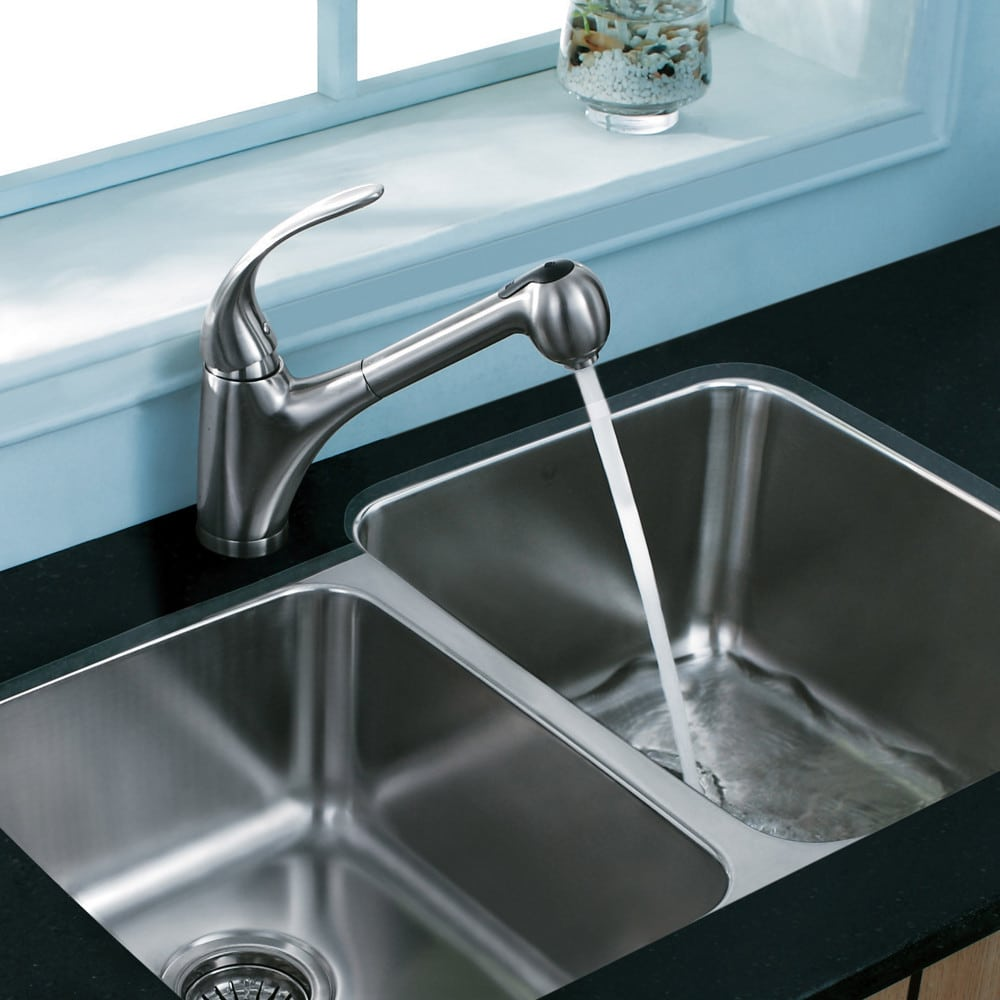 Vigo Industries VG02011ST Single Lever Pull-Down Faucet with Dual ...