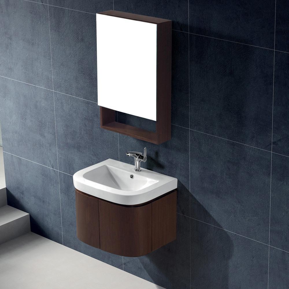 Vigo industries vg09021118k 24 inch adara modern wall for White ceramic bathroom bin