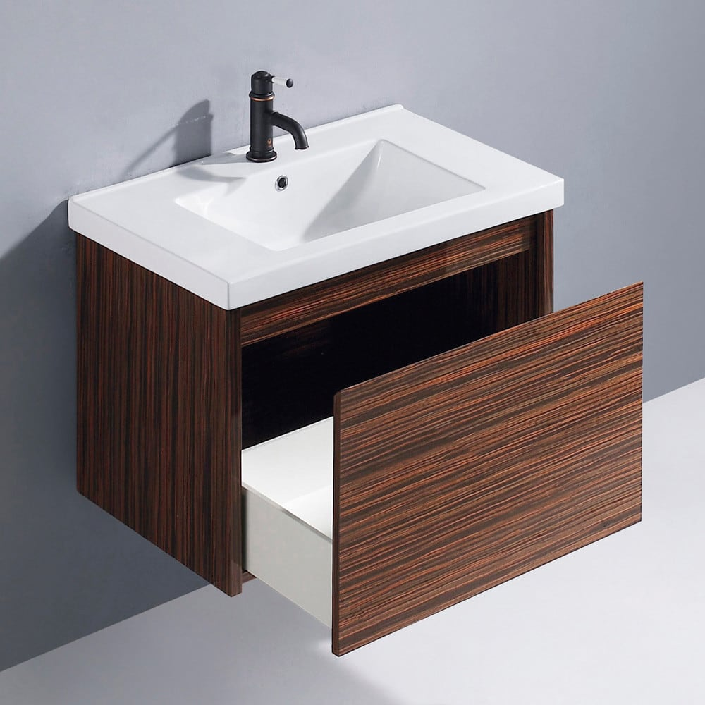 Vigo industries vg09035109k1 32 inch espresso petit modern for White ceramic bathroom bin