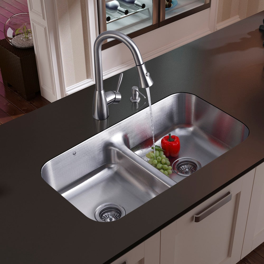 best stainless steel undermount kitchen sinks vigo industries vg15046 33 inch undermount bowl 9212