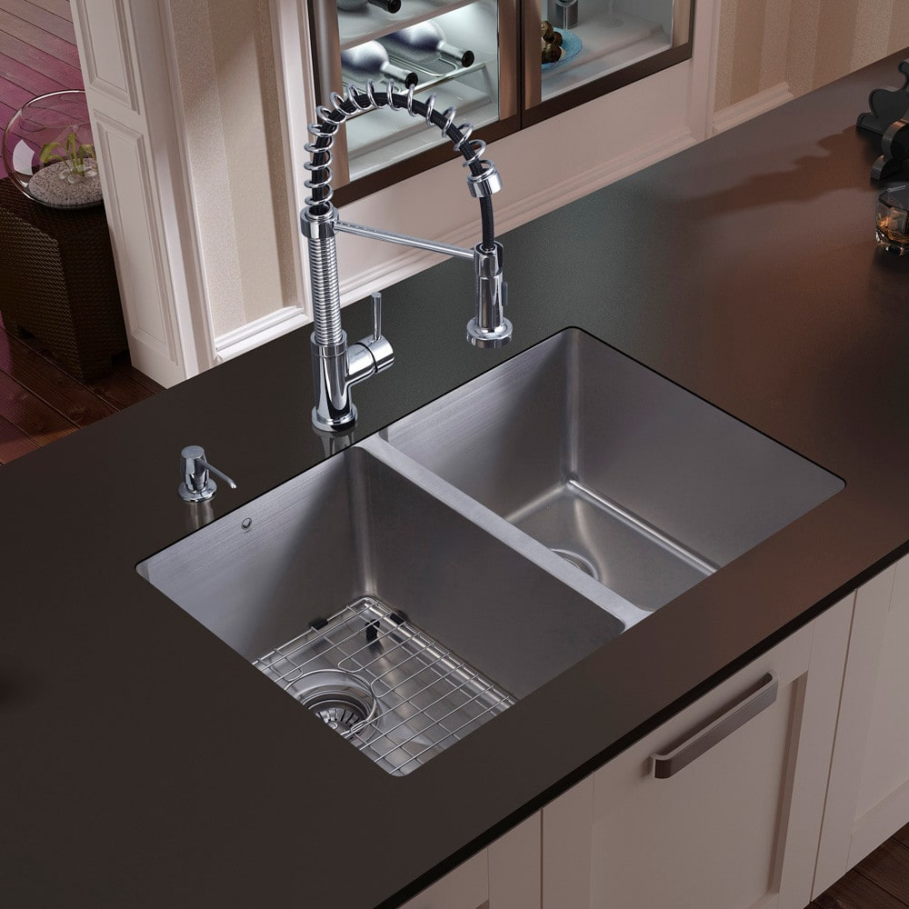 ... Undermount Stainless Steel Kitchen Sink Vigo Industries Platinum  Collection VG15051   Kitchen View ...