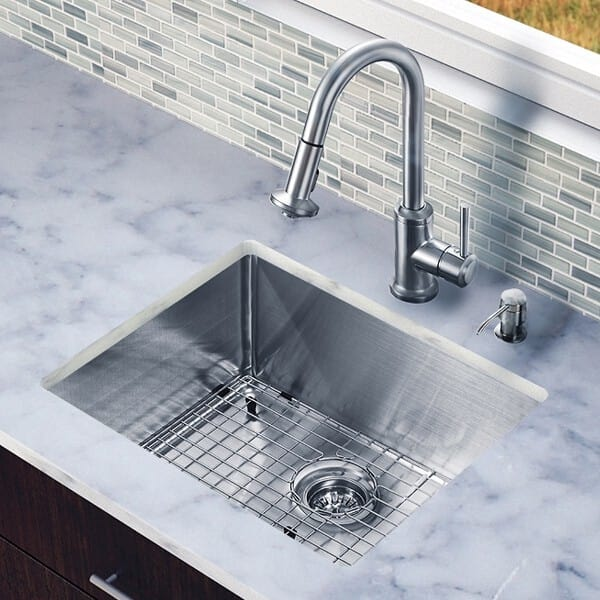 ada compliant kitchen sink vigo industries vg15222 23 inch undermount single bowl 3982