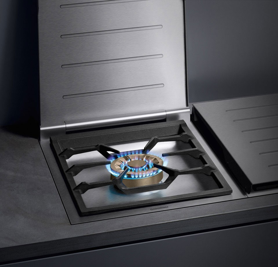 gaggenau vg414210ca 15 inch modular gas wok cooktop with 18 800 btu three ring sealed burner. Black Bedroom Furniture Sets. Home Design Ideas