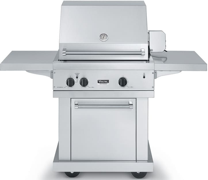 Viking vgbq3002re2nss 30 inch built in gas grill with 563 for Viking built in grill
