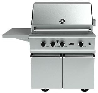 Viking vgbq33603relss 36 inch built in gas grill with 620 for Viking built in grill