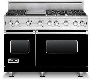 viking custom series vgcc5486g black - 6 Burner Gas Range