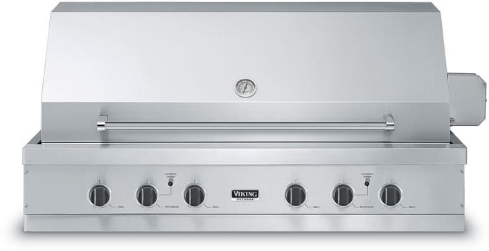 Viking vgiq5304re2nss 53 inch built in gas grill with for Viking built in grill