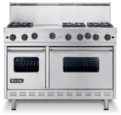 Viking vgsc4874kbk 48 inch pro style gas range with 4 vsh for Viking wok burner