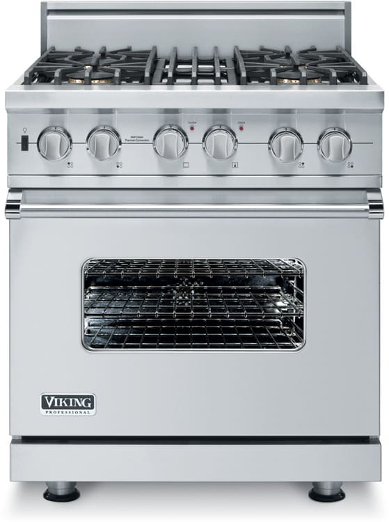 Viking Gas Cooktop >> Viking VGSC5304BSSBR 30 Inch Pro-Style Gas Range with 4 ...