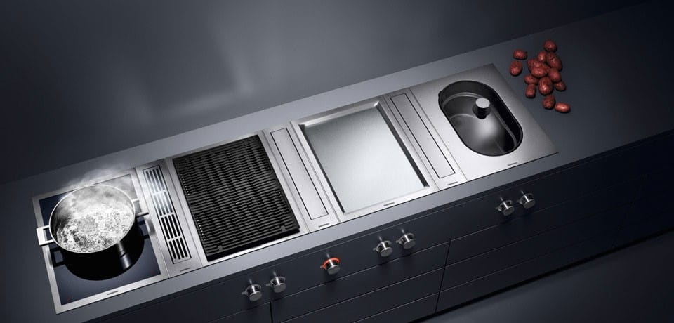 gaggenau vk414610 15 inch built in steamer with 6 4 quarts water capacity 12 output levels. Black Bedroom Furniture Sets. Home Design Ideas