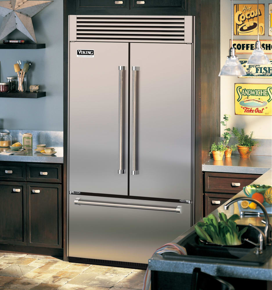 Viking Vtb5420ss 42 Inch Built In French Door Refrigerator With