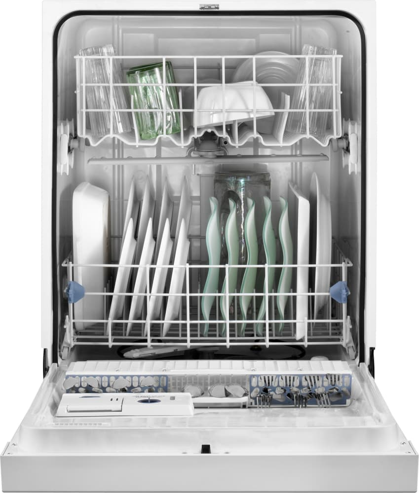 Dishes In Dishwasher ~ Whirlpool wdf pays full console dishwasher with place