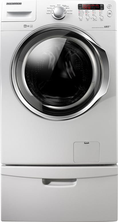 Samsung Wf330anw 27 Inch Front Load Washer With 3 7 Cu Ft Capacity 9 Wash Cycles