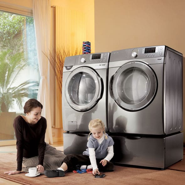 Samsung Wf448aap 27 Inch Front Load Steam Washer With 3 9
