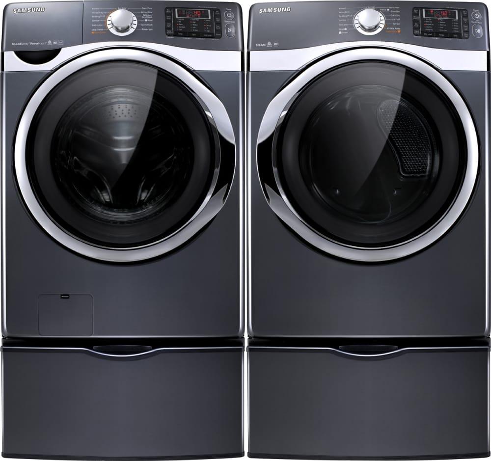 bin dryer pedestals cgi stainless pedestal black inch cu washer ft panel samsung and control load ajmadison front