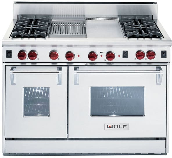 Wolf R484cg 48 Inch Pro Style Gas Range With 4 Dual Brass