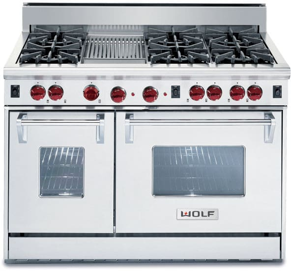 Wolf R486c 48 Inch Pro Style Gas Range With 6 Dual Brass