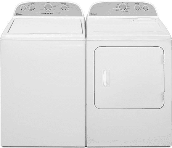 whirlpool wgd4800bq - featured view whirlpool wgd4800bq - washer and dryer  combo