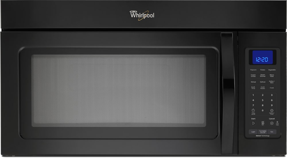 Whirlpool Wmh32517ab 1 7 Cu Ft Over The Range Microwave