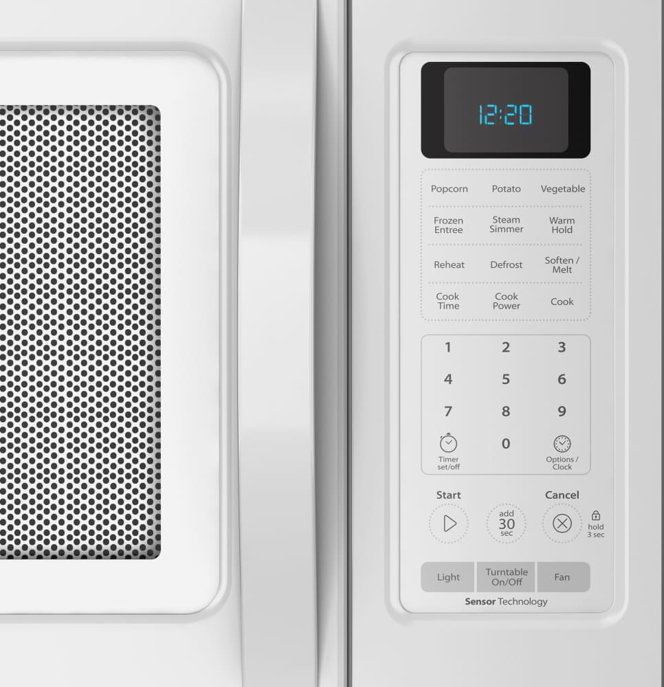 Whirlpool white ice over the range microwave - Whirlpool Wmh32519cw White Whirlpool Wmh32519cw Control Panel