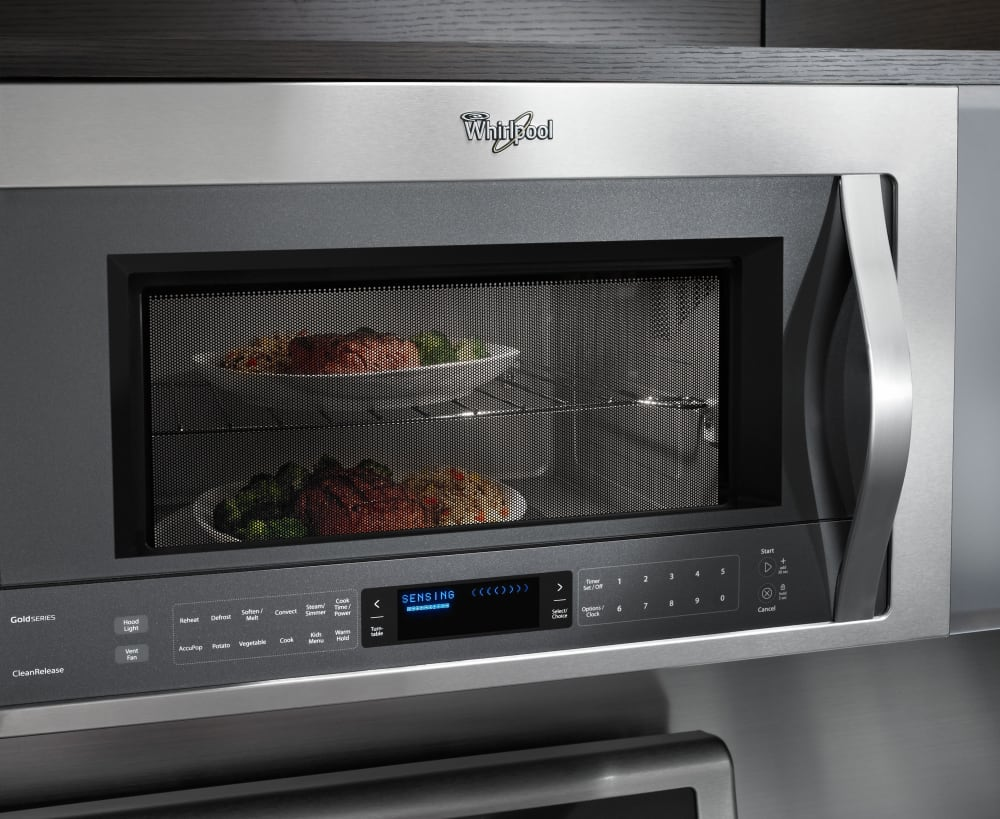 Whirlpool white ice microwave dimensions -  Whirlpool Wmh76719c Integrated Hidden Vent And Console