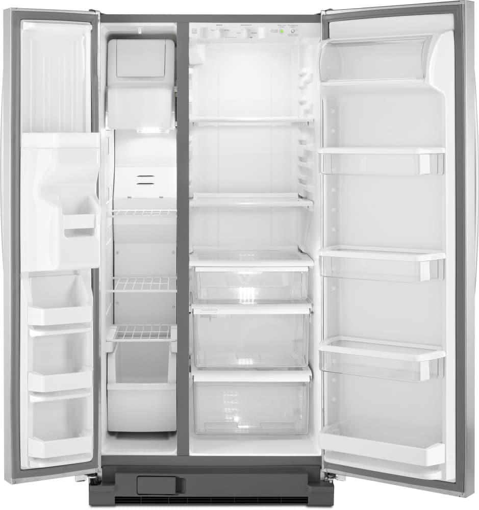 Whirlpool 36 25 Cu Ft French Door Dispenser Refrigerator With External Refrigerated Drawer