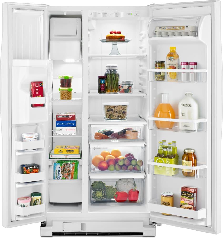 Whirlpool WRS322FDAW 33 Inch Side-by-Side Refrigerator with Accu ...
