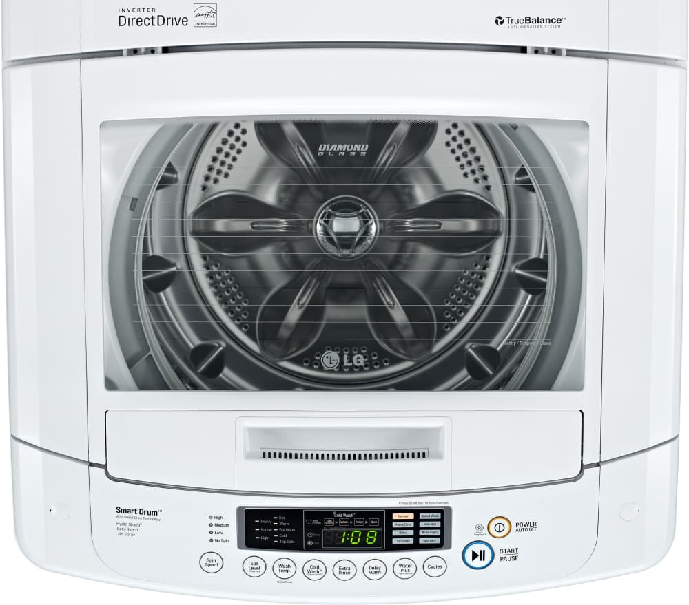 LG WT1001CW 25 Inch Top-Load Washer With 3.6 Cu. Ft