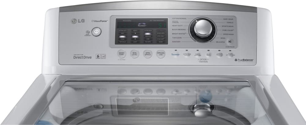 Lg Wt5170hw 27 Inch Top Load Washer With 4 7 Cu Ft Capacity 14 Wash