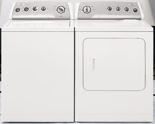 whirlpool wed5800sw - shown with matching washer