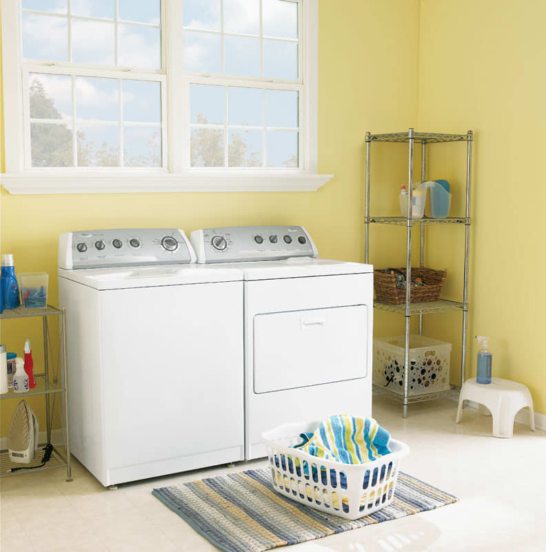 Best Laundry Room Location: Whirlpool WTW5800SW 27 Inch Top-Load Washer With 3.2 Cu