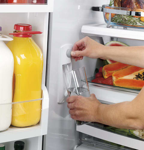fridge with interior water dispenser monogram zfgb21hzss 20 6 cu ft counter depth french door
