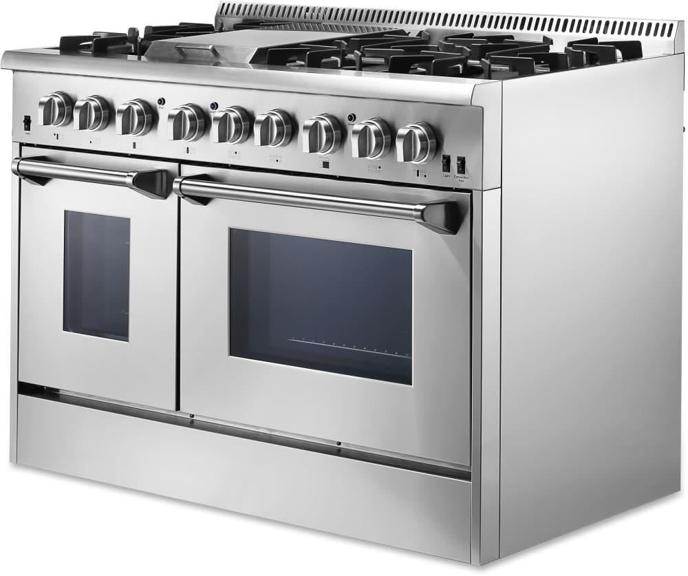 Thor Kitchen HRD4803U 48 Inch Freestanding Dual Fuel Range with ...