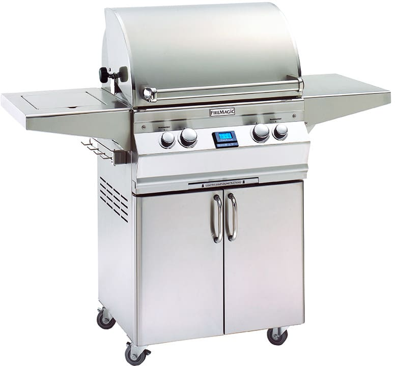 Gas Grill Fire ~ Fire magic a s e n inch freestanding gas grill with