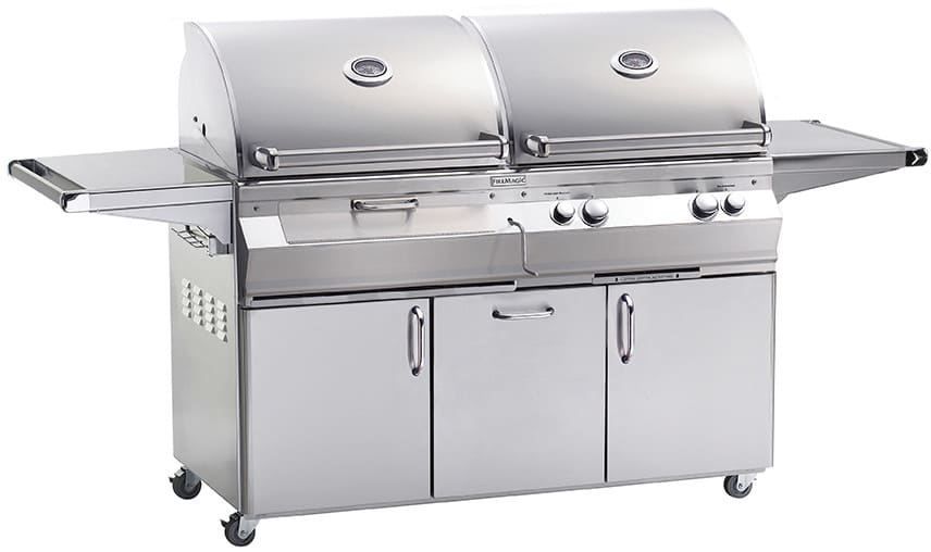 Fire Magic Aurora Collection A830s6e1p61cb 80 Inch Freestanding Gas And Charcoal Grills