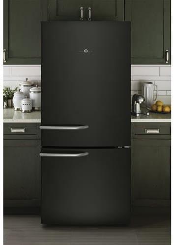 Ge Abe21dgkbs 30 Inch Bottom Freezer Refrigerator With 20 9 Cu Ft