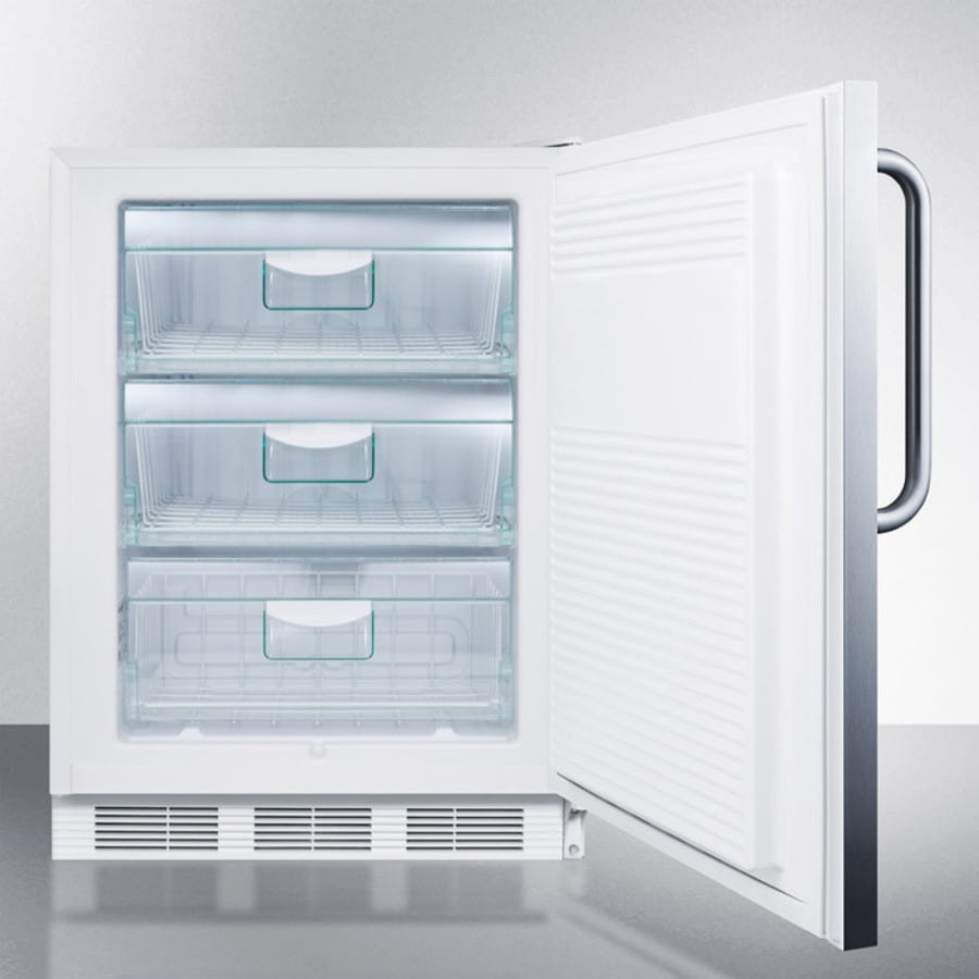 AccuCold VT65MBISSTBADA 24 Inch Freestanding/Built-In All-Freezer ...