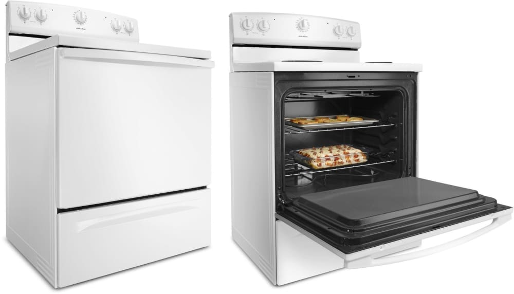 Amana acr2303mfw 30 inch electric range with 4 coil burners 48 cu amana acr2303mfw large oven capacity gives you the space you need to make dinner and publicscrutiny Images