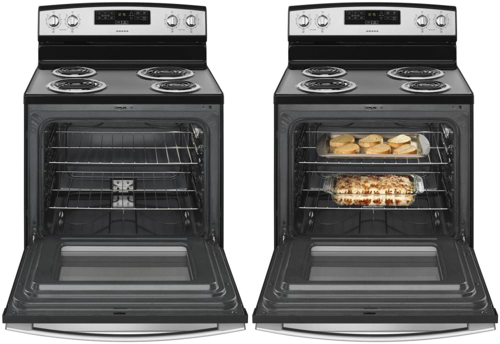 Electric Oven Open ~ Amana acr mfs inch freestanding electric range with