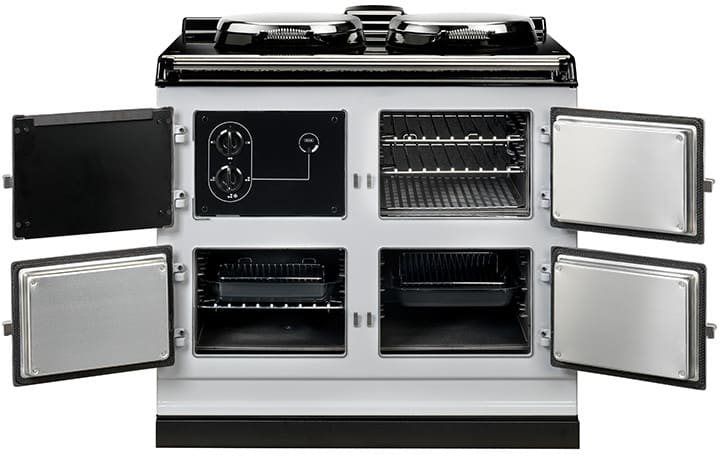 aga adc3ewht 39 inch freestanding electric cooker with. Black Bedroom Furniture Sets. Home Design Ideas