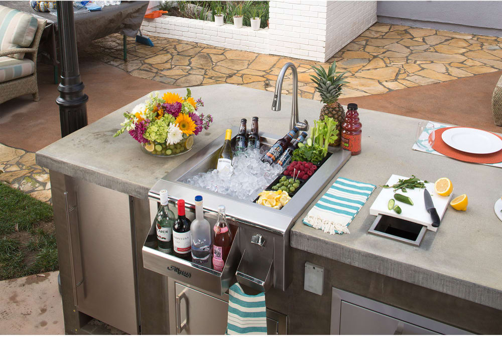 Alfresco ADT24   24 Inch Built In Bartender W/ Sink