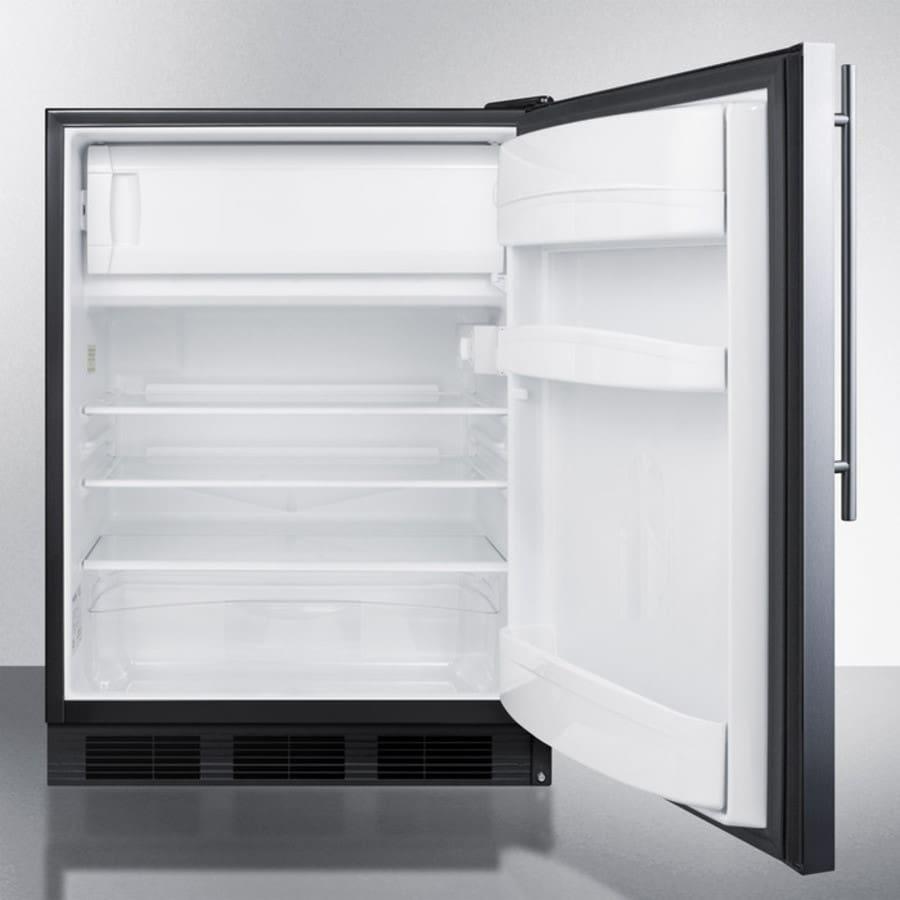 AccuCold AL652BBISSHV 24 Inch Built-In Under-Counter Refrigerator ...