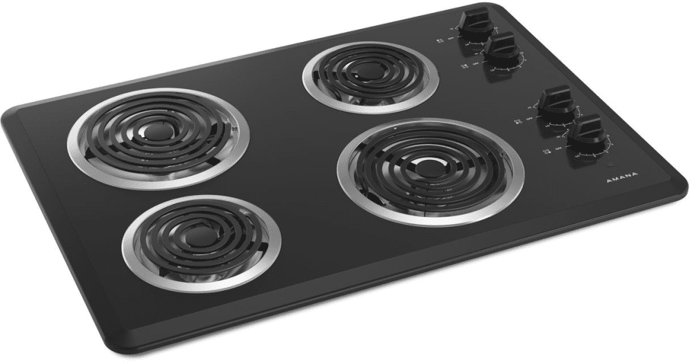 Amana Acc6340kfb 30 Inch Electric Cooktop With 4 Heating