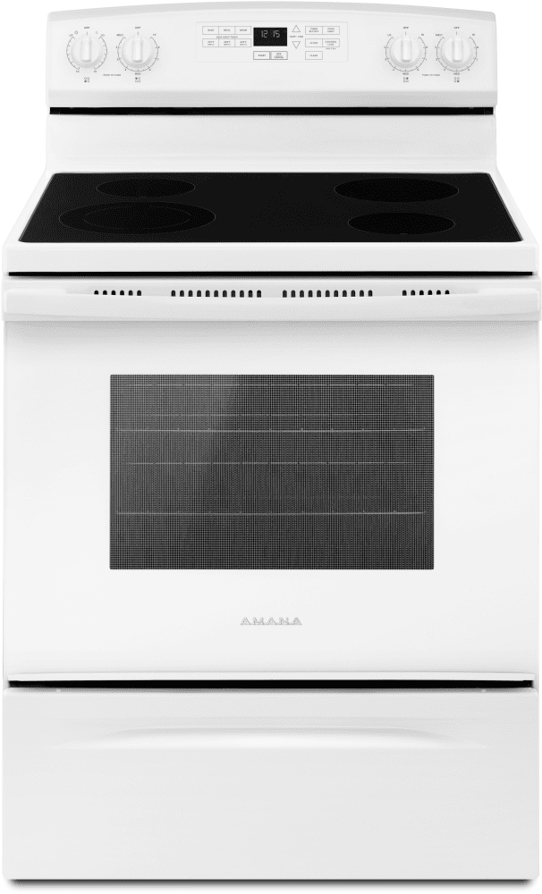 white electric range. amana aer6603sfw - 30 inch electric range in white from white electric range
