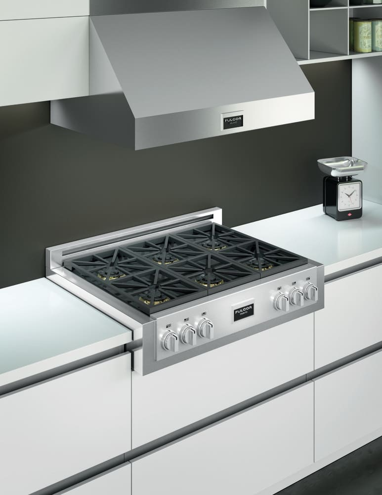 Gas Cooktop Hoods ~ Fulgor milano f ph s inch professional wall mount