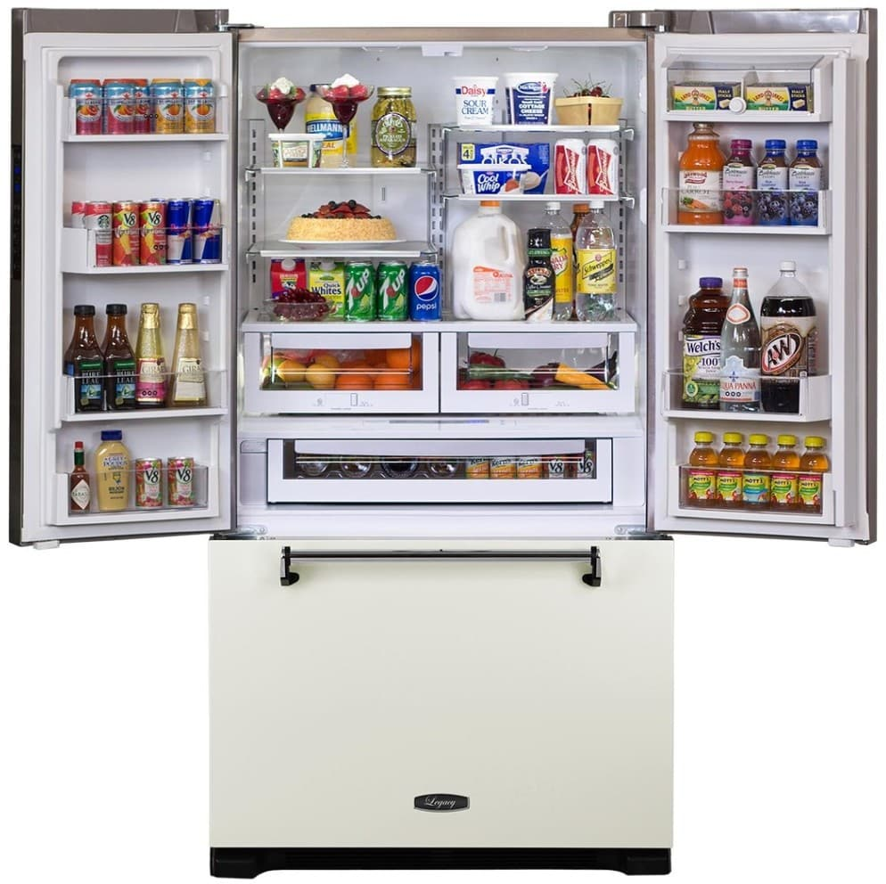 ... French Door Refrigerator   Featured View AGA Legacy AMLFDR23VWT   Open  View ...